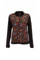 Velvet jacket, incredibly soft, flowery patterns, colorful, col mao