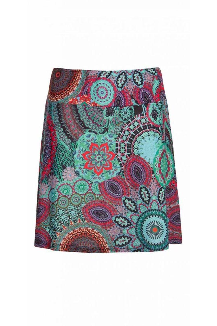 Short skirt bohemian and ethnic, patterns, mandalas, colorful