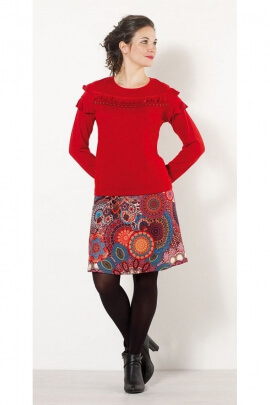 Short skirt bohemian and ethnic, patterns, mandalas, colorful