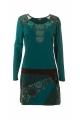 Dress look tribal, bohemian, casual, long sleeve, colorful patterns