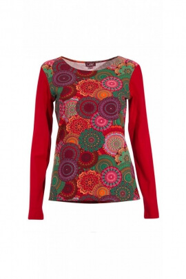 Tee-shirt original prints mandalas colored and long sleeves