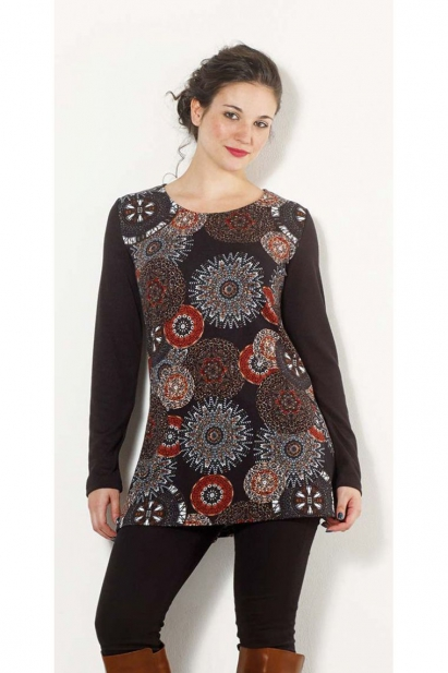 Tunic casual thin knit, original style and prints african