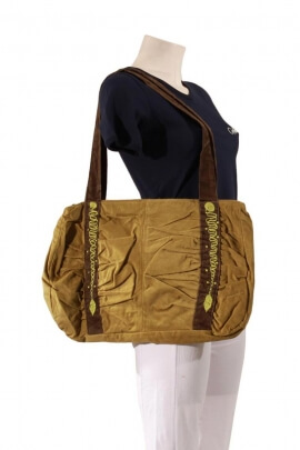 Bag velvet casual cotton, coves embroidered