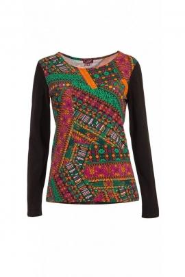 Camiseta original en algodón para mujer, camisas de mangas largas, impreso gipsy
