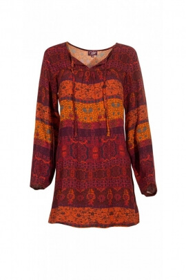 Tunic indian casual, printed sixties original and colorful
