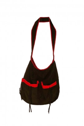Bag backpack casual and practical, cotton velvet