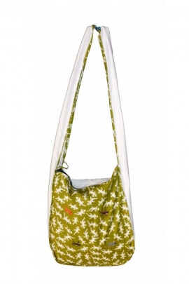 Bag salamander casual in cotton, lined in polyester, printed, gecko