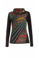 T-shirt ethnic original wide turtleneck and printed aztec colorful