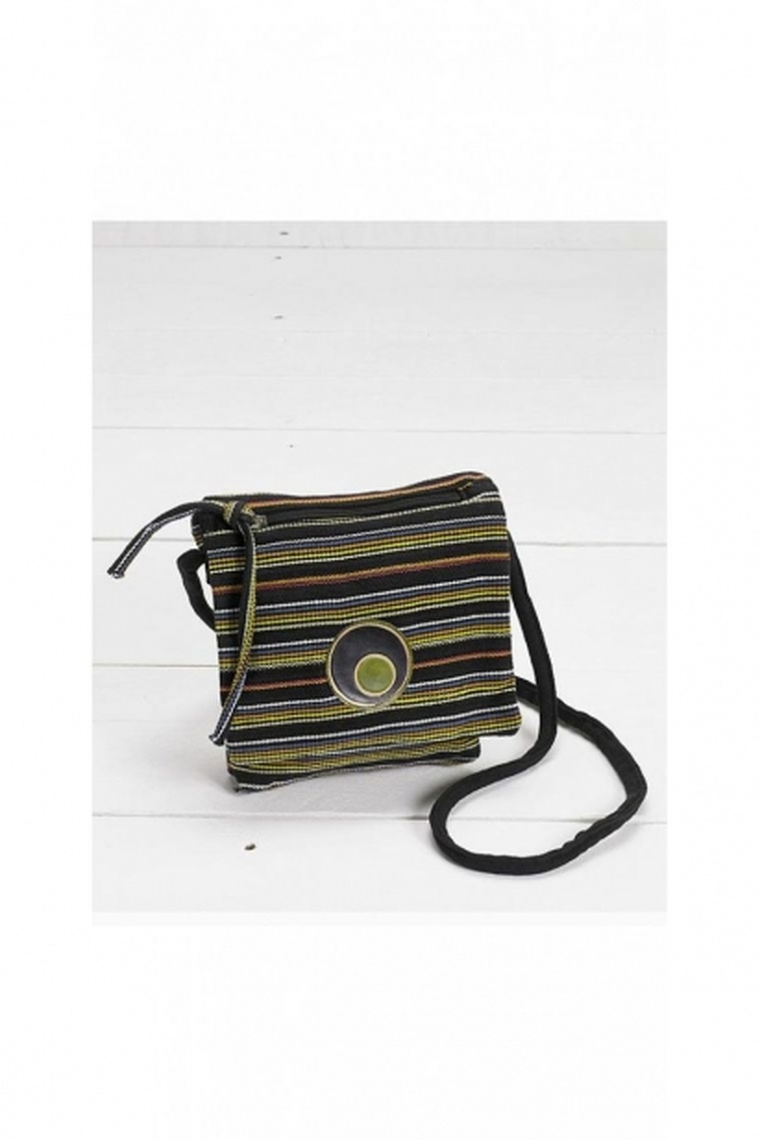 Clutch bag original and colorful cotton striped