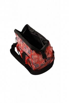 Travel bag in fabric, rendering ethnic, wide open, style doctor