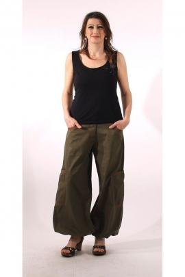 Harem pantalones acampanados de algodón para mujer, reino, michele y de acabado fino, de fabricación india