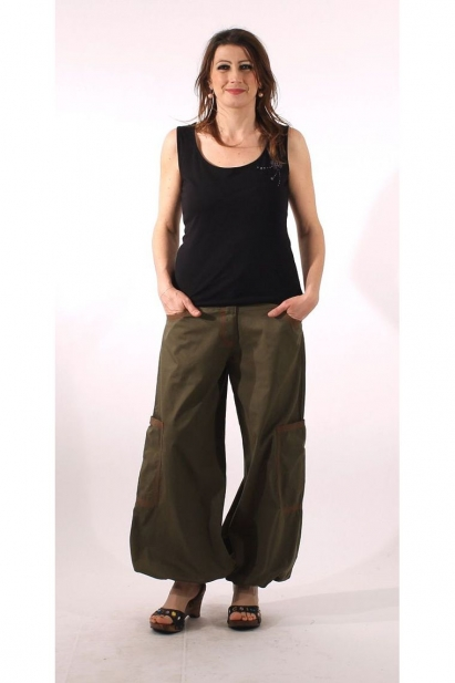 Harem pants cuffed cotton for woman, kingdom, michele and fine finish, manufacturing indian