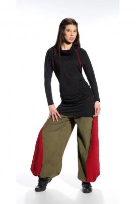 Pantalones holgados para las mujeres, terciopelo de algodón, de corte Aladin