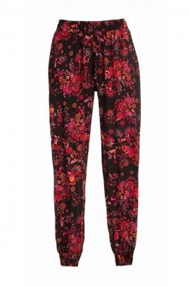 Pantalon fleuri ethnique, confortable et décontracté, style hippie chic