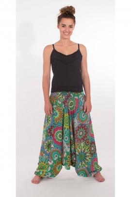 Pantalones Harem 3en1 de la india hecho, impreso baobab original