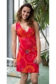 Short dress hippie chic and original for the summer, draped and feminine