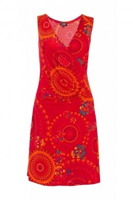 Robe courte hippie chic et originale pour l'été, drapée et féminine