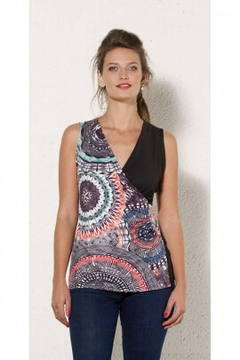 T-shirt tank top simple and colorful, originally ethnic