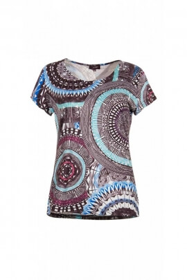 Tee-shirt short sleeves relaxed, originally ethnic