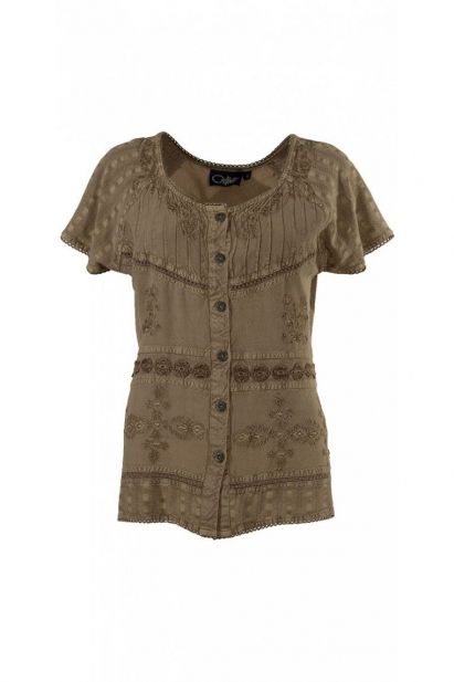 Blouse embroidered indian made, and chic stone wash