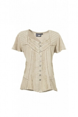 Blouse embroidered romantic and chic, finish stone wash original