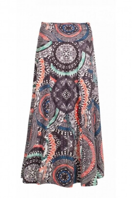 Long skirt bohemian, comfortable, elasticated and urban style