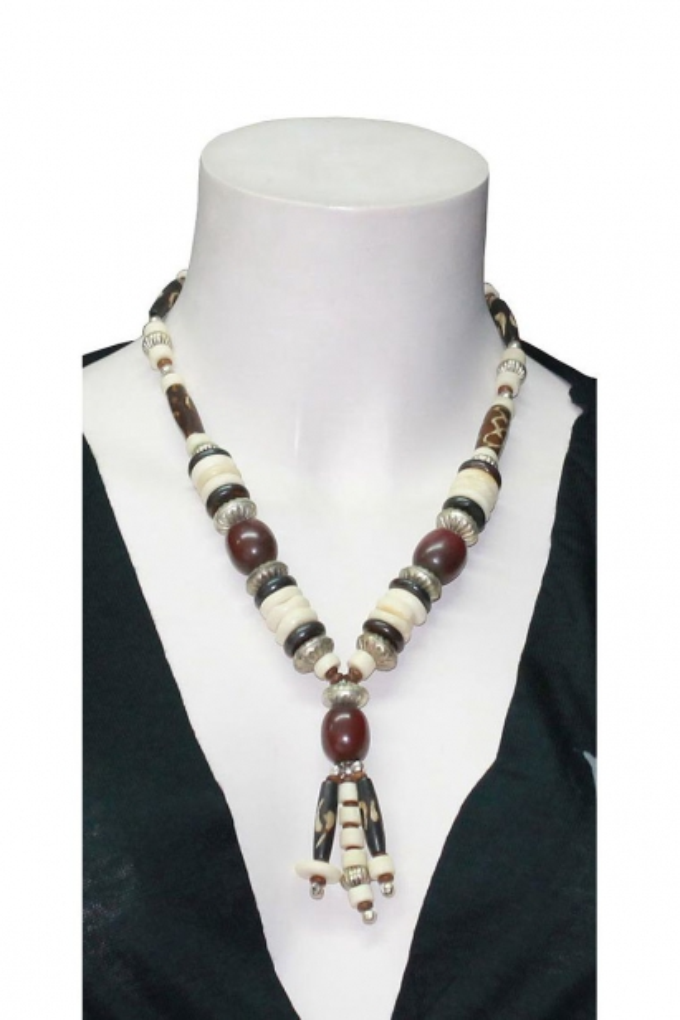 Hippie Chic Necklace bone beads