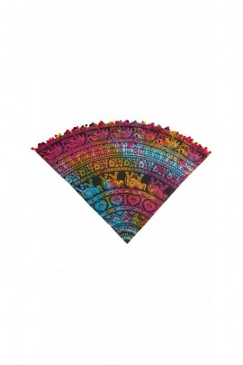 Round tablecloth beach original, in high quality cotton, Tie-Dye