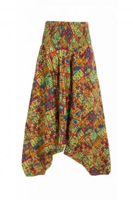 Harem pants 3en1 original and colorful, style baba cool, printed Tamil