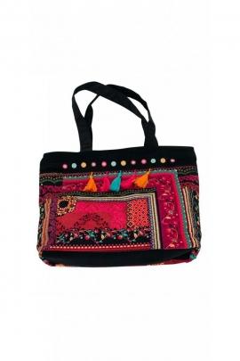 Gran bolsa de la compra en terciopelo bolsa original de bohemia de colores