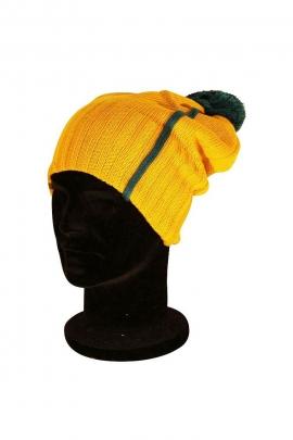 Bonnet à pompon fashion en acrylique 100 % pour femme