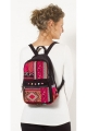 Small backpack velvet ras-ethnic, colorful patterns