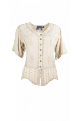 Blouse bohemian embroidered, lace romantic and original