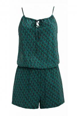 Combi shorts original thin straps, viscose, printed, Dakar colorful