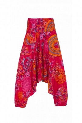 Sarouel 3en1 original en coton, imprimé Mumbai coloré