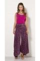 Pants sari draping is very stylish and original, bohemian-style, colorful pattern