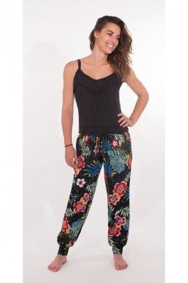 Pantalon décontracté et pratique, style très féminin, imprimé Bora