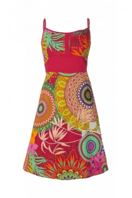 Summer dress original in fine cotton and lightweight, adjustable shoulder straps, colorful patterns