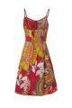 Summer dress original in fine cotton and lightweight, adjustable shoulder straps, colorful patterns