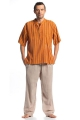 Nepal cotton striped shirt man seventy