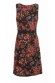 Dress ethnic draped, neckline cache coeur, adjusted and hyper trend