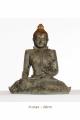 Seated Statue of Gautama Buddha, silver color, original design