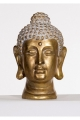 Statue head of Buddha, peace and zen-like ambience, decorative golden