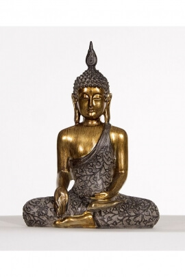Sitting Buddha Statue in meditation mudra, positive energy and peace