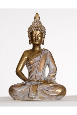 Statue of Buddha sitting in a meditation position, 27 cm in height and 300 g