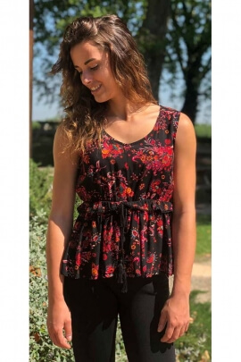 Top bohemian light, lace up, under bust, style gipsy original