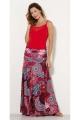 Skirt bohemian extra long, printed, hypnotic original and colorful