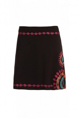 Skirt original short cotton jersey, ethnic, colorful, style, hippie chic
