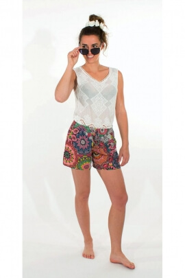 Short casual and colorful, printed baobab original