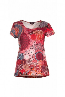 T-shirt original small sleeves, printed hypnotic colorful